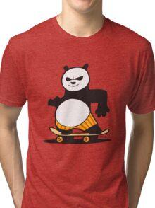 Skate Fu Panda Tri-blend T-Shirt