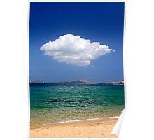 Beach vs Cloud Poster