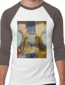 Violin Painting Men's Baseball ¾ T-Shirt