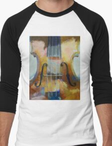 Violin Painting Men's Baseball ¾ T-Shirt