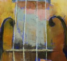 Violin Painting Sticker