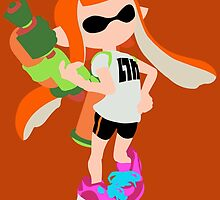 Inkling Girl (Orange) - Splatoon by samaran