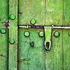 An old green door - Iran by mojgan
