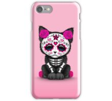 Cute Pink Day of the Dead Kitten Cat iPhone Case/Skin