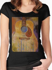 Acoustic Guitar Women's Fitted Scoop T-Shirt