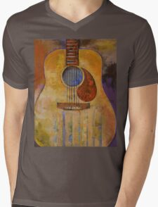 Acoustic Guitar Mens V-Neck T-Shirt