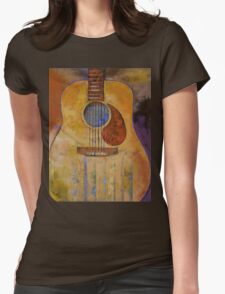 Acoustic Guitar Womens Fitted T-Shirt