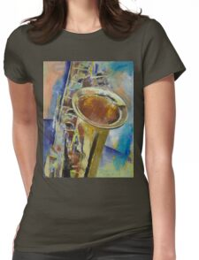 Saxophone Womens Fitted T-Shirt