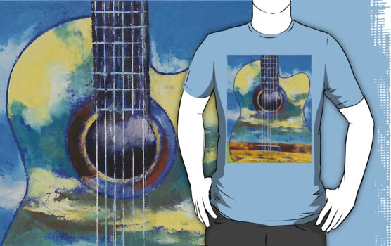 Guitar and Clouds by Michael Creese