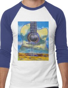 Guitar and Clouds Men's Baseball ¾ T-Shirt