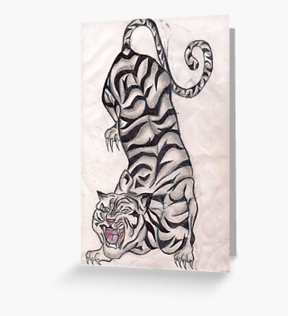 pouncing tiger Greeting Card