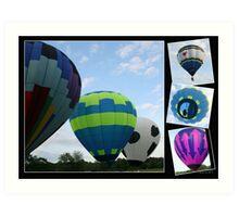 Balloon Collage! Art Print