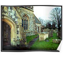 Avebury Church - 11th Century Poster