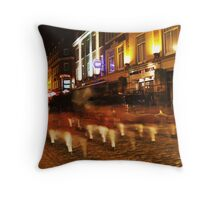 Ghostly bagpipes Throw Pillow