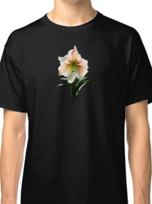 White Lily With Red Stripes Classic T-Shirt