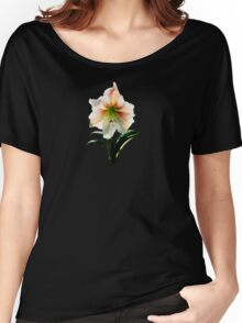 White Lily With Red Stripes Women's Relaxed Fit T-Shirt