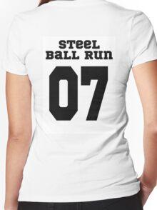 JJBA League - Steel Ball Run Women's Fitted V-Neck T-Shirt
