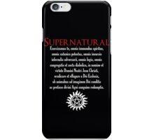 Supernatural Latin Exorcism  iPhone Case/Skin