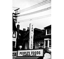 Hamburgers Photographic Print