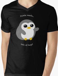 Pickle the Penguin Mens V-Neck T-Shirt