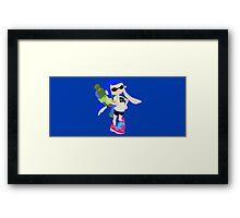 Inkling Girl (Blue) - Splatoon Framed Print