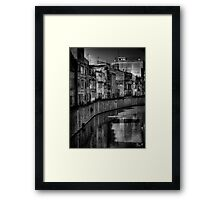 The silence of the river Framed Print