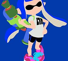 Inkling Girl (Blue) - Splatoon by samaran