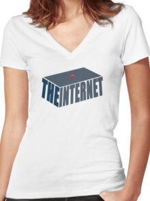 This, Jen, is the internet.  Women's Fitted V-Neck T-Shirt
