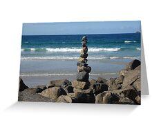 Byron Bay Stones Greeting Card