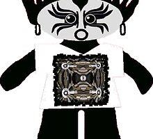 Little Goth Rag Doll Wearing Mommy's Art 10 by Deborah Lazarus