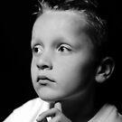 Model Boo in B/W (Barney) by David  Howarth