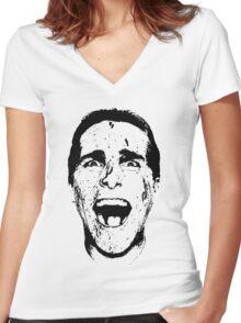 Patrick Bateman Women's Fitted V-Neck T-Shirt