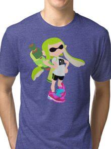 Inkling Girl (Green) - Splatoon Tri-blend T-Shirt