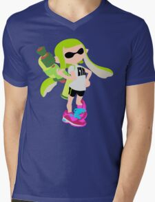 Inkling Girl (Green) - Splatoon Mens V-Neck T-Shirt