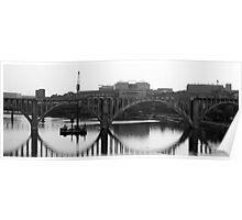 Henley Street Bridge/Downtown Knoxville/Under Reconstruction Poster