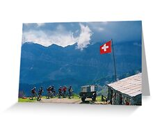 Swiss cottage Greeting Card