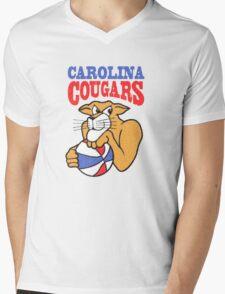Carolina Cougars Vintage Mens V-Neck T-Shirt