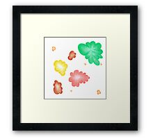 Beautiful colorful shapes for good mood Framed Print