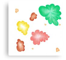 Beautiful colorful shapes for good mood Canvas Print
