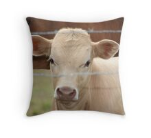 Little White Calf Throw Pillow