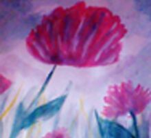 Red Poppy, watercolor by Anna  Lewis