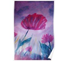 Red Poppy, watercolor Poster
