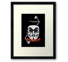 anonymous : we are legion Framed Print