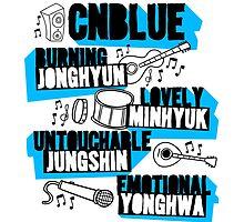 CNBlue Doodle by skeletonvenus