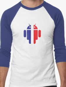 Frenchi-Bot Men's Baseball ¾ T-Shirt