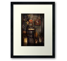 Steampunk - Back in the engine room Framed Print