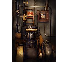Steampunk - Back in the engine room Photographic Print