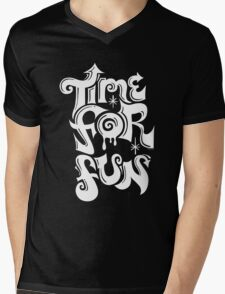 Time for fun - on darks Mens V-Neck T-Shirt