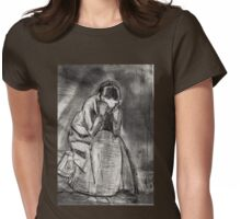 Weeping Woman(after Van Gogh) Womens Fitted T-Shirt
