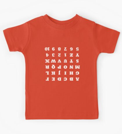 Elementary Cheat Sheet - White Kids Tee